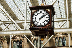 Clock at Glasgow Central railway station in Scotland United Kindom