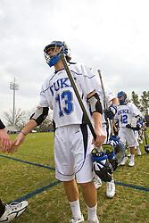 23 February 2008: Duke Blue Devils men's lacrosse midfielder Brandon Allen (13) in a 19-7 win over the Vermont Catamonts at Koskinen Stadium in Durham, NC