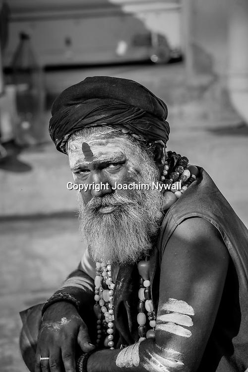 20181104 Sonepur Bihar Indien<br /> Sonepur Mela<br /> Porträtt av en helig man en Sadhu<br /> ----<br /> FOTO : JOACHIM NYWALL KOD 0708840825_1<br /> COPYRIGHT JOACHIM NYWALL<br /> <br /> ***BETALBILD***<br /> Redovisas till <br /> NYWALL MEDIA AB<br /> Strandgatan 30<br /> 461 31 Trollhättan<br /> Prislista enl BLF , om inget annat avtalas.