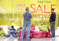 © Licensed to London News Pictures. 26/12/2014. Shoppers in Westfield Stratford City, east London, on Boxing Day (26/12/2014.). Photo credit : LNP