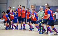 ROTTERDAM  - NK Zaalhockey . finale heren: SCHC-Amsterdam (2-2, SCHC wint shoot-outs) . Vreugde bij SCHC na het behalen van de titel. COPYRIGHT KOEN SUYK
