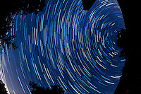 North View Star Trails. Summer Night in New Jersey. Image taken with a Nikon D3s and 16 mm f/2.8 mm Fisheye lens (ISO 400, 16 mm, f/4, 59 sec). Composite of 60 images combined using the Startrails program.