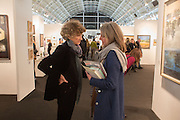 LINDY DUFFERIN; ELIZABETH BARING, Preview for the London Art Fair,  Islington Business Design Centre. London. 13 January 2014