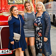 Amy Christophers, Aisleyne Horgan-Wallace and guest attends Brigits Bakery host their Pink Ribbon Afternoon Tea in aid of the Pink Ribbon Foundation, London, UK. 16 October 2018.