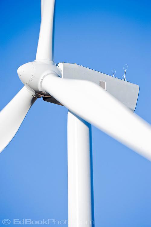 electric generating wind turbine in the Palouse region of eastern Washington, USA
