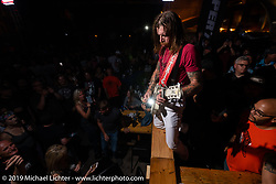 Frontman Jesse Everett Hughes with Eagles of Death Metal played the Super Hooligan pre-party at the Loud American on Main Street during the Sturgis Black Hills Motorcycle Rally. Sturgis, SD, USA. Monday, August 5, 2019. Photography ©2019 Michael Lichter.