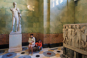 Tourists visiting the State Hermitage Museum (second largest museum in the world), St Petersburg