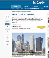 La Croix  website Construction of skyscrapers in Dubai