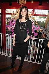 Singer SOPHIE ELLIS-BEXTOR at the launch party for the shop 'Lost in Beauty' 117 Regents Park Road, London NW1 on 22nd April 2008.<br />