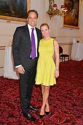 ANDRE KONSBRUCK and his wife CHRISTINE SIEG at the Audi Ballet Evening at The Royal Opera House, Covent Garden, London on 23rd April 2015.