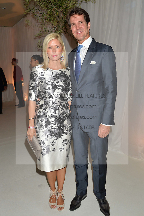 CROWN PRINCE PAVLOS OF GREECE and PRINCESS MARIE CHANTAL OF GREECE at a dinner hosted by Cartier in celebration of The Chelsea Flower Show held at The Hurlingham Club, London on 19th May 2014.