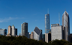The Chicago skyline viewed from Grant Park, Chicago