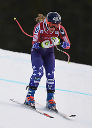 30.11.2017, Lake Louise, CAN, FIS Weltcup Ski Alpin, Lake Louise, Abfahrt, Damen, 3. Training, im Bild Laurence Ross (USA) // Laurenne Ross of the USA in action during the 3rd practice run of ladie's Downhill of FIS Ski Alpine World Cup at the Lake Louise, Canada on 2017/11/30. EXPA Pictures © 2017, PhotoCredit: EXPA/ SM<br /> <br /> *****ATTENTION - OUT of GER*****