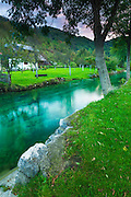 Korana Village and stream, Plitvice Lakes National Park, Croatia