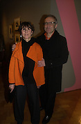 "Steven and Flo Bayley. The private views for Anna Piaggi's exhibition ""Fashion-ology"" and also 'Popaganda: the life and style of JC de Castelbajacat' the Victoria & Albert Museum on January 31  2006. © Copyright Photograph by Dafydd Jones 66 Stockwell Park Rd. London SW9 0DA Tel 020 7733 0108 www.dafjones.com"
