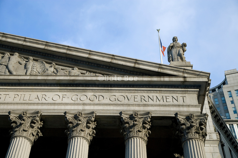 part of the frieze above the entrance to court house in New York City