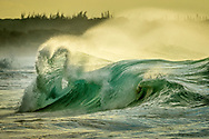 Heart shaped wave, Papohaku beach, Molokai Hawaii.  Storms in the Bering sea pump winter swells onto the shores of Molokai.  TO PURCHASE THIS PRINT PLEASE CONTACT:  lajolla@natgeofineart.com