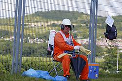 July 29, 2018 - Budapest, Hungary - Motorsports: FIA Formula One World Championship 2018, Grand Prix of Hungary, ..steward, Streckenposten, track marshal  (Credit Image: © Hoch Zwei via ZUMA Wire)