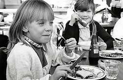 Lunchtime Stanley junior school, Nottingham UK 1986