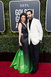 Marin Hinkle and Tony Shalhoub attend the 76th Annual Golden Globe Awards at the Beverly Hilton in Beverly Hills, CA on Sunday, January 6, 2019.