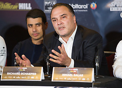 May 3, 2018 - London, London, United Kingdom - Bellew vs David Haye press conference. ..Richard Schaefer during the press conference...Tony Bellew vs David Haye press conference at Park Plaza hotel. (Credit Image: © Gustavo Valiente/i-Images via ZUMA Press)