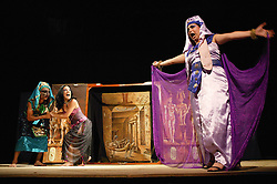 Eclipse theatre group performing play on Egyptian theme at Pinar del Rio; Cuba,