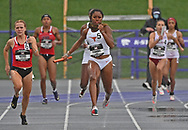 Kynndi Flannel of Texas competes during the Big 12 Outdoor Track & Field Championship at R.V. Christian Track & Field Complex in Manhattan, Kansas.