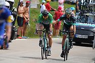 Peter Sagan (SVK - Bora - Hansgrohe), Daniel Oss (ITA - Bora - Hansgrohe) during the 105th Edition of Tour de France 2018, cycling race stage 19, Lourdes - Laruns (200 km) on July 27, 2018 in Laruns, France - photo Kei Tsuji / BettiniPhoto / ProSportsImages / DPPI
