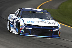 June 1, 2018 - Long Pond, Pennsylvania, United States of America - Kyle Larson (42) brings his car through the turns during practice for the Pocono 400 at Pocono Raceway in Long Pond, Pennsylvania. (Credit Image: © Chris Owens Asp Inc/ASP via ZUMA Wire)