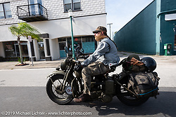 Randy Samz riding his 1942 Harley-Davidson WLA during the Cross Country Chase motorcycle endurance run from Sault Sainte Marie, MI to Key West, FL. (for vintage bikes from 1930-1948). Stage-9 covered 259 miles from Lakeland, FL to Miami, FL USA. Saturday, September 14, 2019. Photography ©2019 Michael Lichter.
