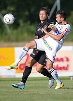 Fotball<br /> 01.07.2015<br /> Foto: Gepa/Digitalsport<br /> NORWAY ONLY<br /> <br /> SK Sturm Graz vs FC Midtjylland, test match. <br /> <br /> Image shows Erik Sviatchenko (Midtjylland) and Josip  Tadic (Sturm).