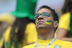 June 22, 2018 - Saint Petersburg, U.S. - SAINT PETERSBURG, RUSSIA - JUNE 22: Fan of Brazil during the Group E 2018 FIFA World Cup soccer match between Brazil and Costa Rica on June 22, 2018, at Saint Petersburg Stadium in Saint Petersburg, Russia. (Photo by Anatoliy Medved/Icon Sportswire) (Credit Image: © Anatoliy Medved/Icon SMI via ZUMA Press)