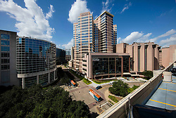 MD Anderson Pavilion building at Texas Medical Center in Houston, Texas.