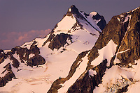 Dawn over Mount Matier (2783 m 9131 ft) from the North displaying the Anniversary Glacier, Coast Range British Columbia Canada beauty in nature