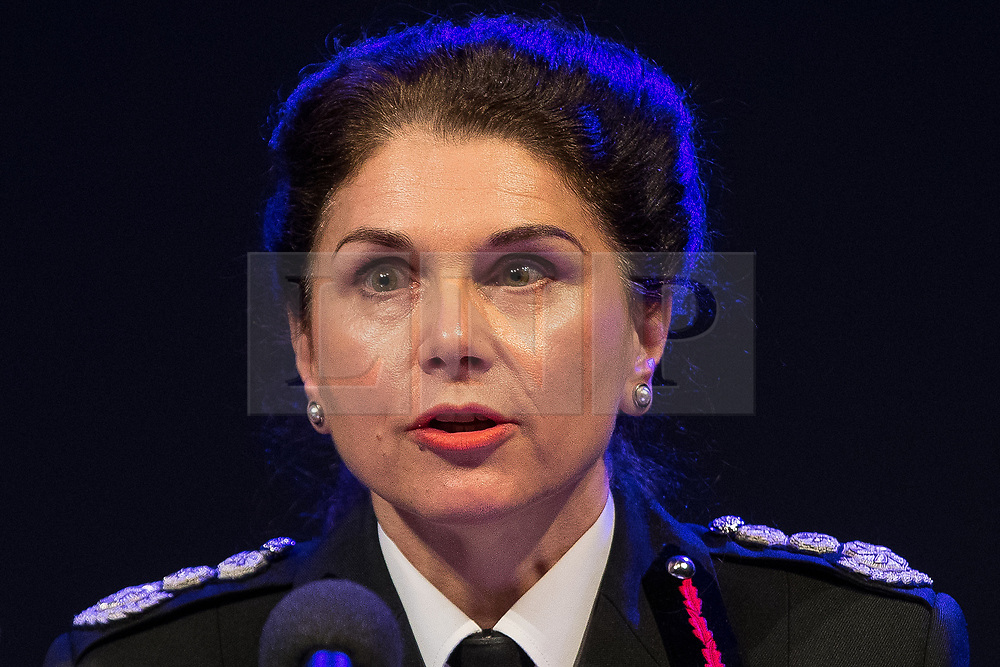 © Licensed to London News Pictures . FILE PICTURE DATED 23/05/2017 as Manchester prepares to mark a year since the Manchester Arena terror attack . Salford, UK. Greater Manchester Fire and Rescue's DAWN DOCX . The Kerslake Report in to the terrorist bombing of an Ariana Grande concert at the Manchester Arena on 22nd May 2017 , ordered by Greater Manchester Metro Mayor Andy Burnham , is published at a press conference at the University of Salford , at Media City . Amongst praise for many connected with the events, the report also highlights failings in communication at Greater Manchester Fire and Rescue on the night and disreputable behaviour by some sections of the media in the aftermath of the attack . Photo credit : Joel Goodman/LNP