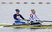 Reading, UNITED KINGDOM. GBR W2-, bow Jess EDDIE and Polly SWANN  at the GBR Media Day, Redgrave and Pinsent Rowing Lake. GB Rowing Training Base, Caversham, Berks. Wednesday   19/03/2014 [Mandatory Credit: Peter Spurrier/Intersport Images]