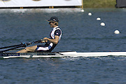 2005 FISA Rowing World Cup Munich,GERMANY. 19.06.2005; GBR LM 1X Zac Purchase.Photo  Peter Spurrier. .email images@intersport-images.[Mandatory Credit Peter Spurrier/ Intersport Images] Rowing Course, Olympic Regatta Rowing Course, Munich, GERMANY