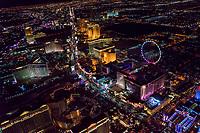 Curvature of Las Vegas Strip, Northern End