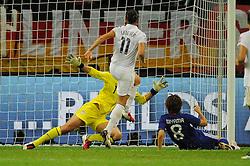 17-07-2011 VOETBAL: FIFA WOMENS WORLDCUP 2011 FINAL JAPAN - USA: FRANKFURT<br /> Tor zum 1:1 durch Aya MIYAMA ( #8 JPN ) rechts<br /> ***NETHERLANDS ONLY***<br /> ©2011-FRH- NPH/Nollert