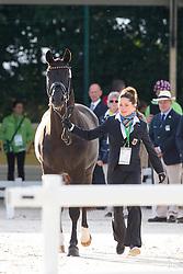 Kristina Sprehe, (GER), Desperados FRH - Horse Inspection Dressage - Alltech FEI World Equestrian Games™ 2014 - Normandy, France.<br /> © Hippo Foto Team - Leanjo de Koster<br /> 25/06/14