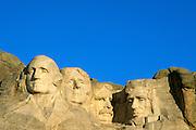 Morning light on Mount Rushmore, Mount Rushmore National Memorial, South Dakota