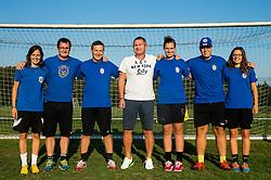 Matjaz Kek, coach of HNK Rijeka with coaches at his visit of women team ZNK Radomlje, on September 1, 2016, in Sports park Radomlje, Slovenia. Photo by Vid Ponikvar / Sportida