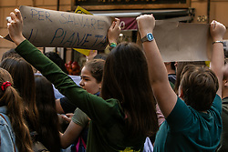 May 24, 2019 - Palermo, Italy - Thousands of young people demonstrated for the respect of the environment against an economic system that exploits men and the planet. (Credit Image: © Antonio Melita/Pacific Press via ZUMA Wire)