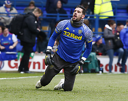 May 5, 2019 - Ipswich, England, United Kingdom - Kiko Casilla of Leeds United during the pre-match warm-up .during Sky Bet Championship match between Ipswich Town and Leeds United at Portman Road, Ipswich on 05 May 2019. (Credit Image: © Action Foto Sport/NurPhoto via ZUMA Press)