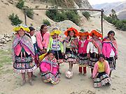 All girl football team in a remote Peruvian village