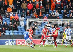 Tom Lapslie of Colchester United shoots - Mandatory by-line: Arron Gent/JMP - 27/04/2019 - FOOTBALL - JobServe Community Stadium - Colchester, England - Colchester United v Milton Keynes Dons - Sky Bet League Two