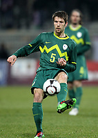 Fotball<br /> Slovenia v Qatar<br /> 03.03.2010<br /> Foto: Gepa/Digitalsport<br /> NORWAY ONLY<br /> <br /> Bild zeigt Bostjan Cesar (SLO)
