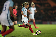 Another chance in injury time, this time to Jordan Nobbs (vice-captain) (England) (Arsenal), but her shot is deflected for a corner during the Women's International Friendly match between England Ladies and Italy Women at Vale Park, Burslem, England on 7 April 2017. Photo by Mark P Doherty.
