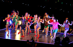 Performers on stage during the Closing Ceremony for the 2018 Commonwealth Games at the Carrara Stadium in the Gold Coast, Australia.