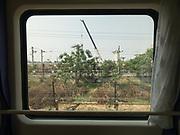 Window view across China, from the train from Hong Kong to Urumqi, Xinjiang.